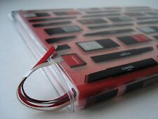 CHANEL VIP GIFT RED NOTEBOOK/DIARIES WITH PLASTIC CHANEL BEAUTY COVER - NEW