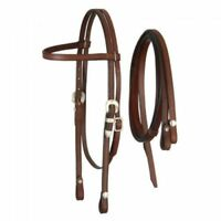 Royal King Medium Oil Browband Headstall w/ Reins Horse Tack 42-209