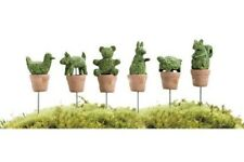 Miniature Dollhouse Fairy Garden - Animal Topiaries - Set of 6 - Accessories