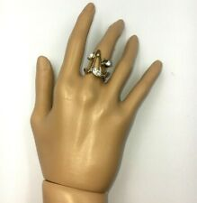 Women Jewelry Fashion Ring V Shape Gold Silver Color Size 7 New