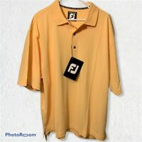 Fj FootJoy Golf Polo Men's Shirt Size XXL Extra Extra Large Yellow NWT