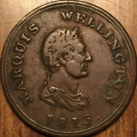 1813 LOWER CANADA HALF PENNY TOKEN MARQUIS WELLINGTON BRETON 978