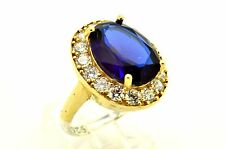 925 STERLING SILVER TURKISH HURREM SULTAN HQ SAPPHIRE LADIES RING 9 USA SELLER