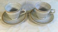 Americana Hearthside Cup & Saucer Set Of 2 -Japan Handpainted Stoneware Heritage
