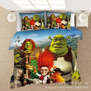 Shrek Bedding 3D Printed Bedding Set 2/3PC Duvet Cover & Pillowcase 3A-1