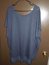 NWT - Lane Bryant - Sweater - 26 / 28 - Navy Blue - Key Hole / Split Back