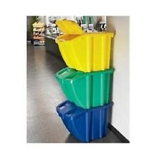 RECYCLING STORAGE TRASH GARBAGE WASTE BIN KITCHEN RECYCLE CONTAINER GARAGE CAN