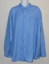TOMMY BAHAMA SKY BLUE L/S FINE LINEN COTTON MIX DRESS SHIRT. TB7259A10