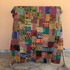 Patchwork Kantha Quilt Decorative Quilt Bedspread Bedding Throw Reversible Twin