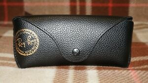 Authentic Ray Ban Brand Black Leather Carrying Case