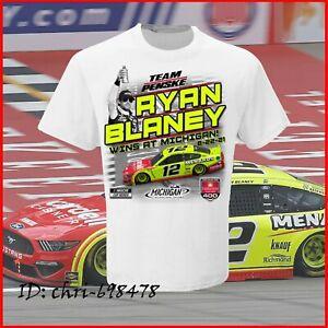 HOT NEW!! Ryan Blaney 2021 Michigan Race Win White T-Shirt Unisex