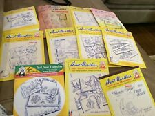 Lot of 11 Aunt Martha's Hot Iron Transfers - baby, birds, angels, bees, flowers