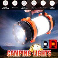 US USB LED Light Rechargeable Flashlight Lantern Camping Eemergency Bright Lamp