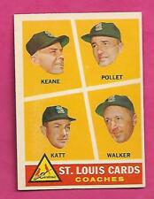 1960 TOPPS # 468 CARDS COACHES STAFF EX-MT CARD (INV# A8192)