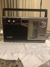 Vintage SONY ICF-7370W 3 Band PSB/FM/AM AC/Battery Portable Radio