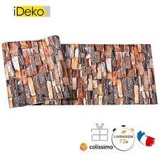 Rétro 3D PVC Papier Peint Simulation Briques Décoration Brique rouge 10*0.53(M)
