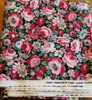 Daisy Kingdom Cottage Roses fabric for quilting crafts sewing by the yard