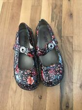 Alegria Paloma PAL-323 Midnight Garden Patent Floral Mary Jane Shoes  41
