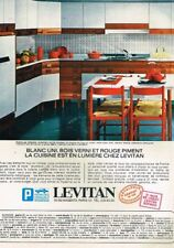 M- Publicité Advertising 1968 Mobilier Meubles de cuisine Levitan