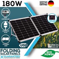 NEW 12V 180W FOLDING SOLAR PANEL KIT MONO CARAVAN BOAT CAMPING POWER BATTERY