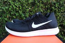 Nike Free RN Flyknit 2017 Run Gr 15 schwarz weiß grau Laufschuh 880843 001