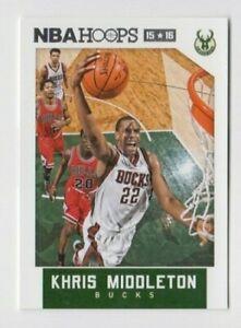 (12) Khris Middleton 2015-16 PANINI NBA HOOPS CARD LOT #142 MILWAUKEE BUCKS