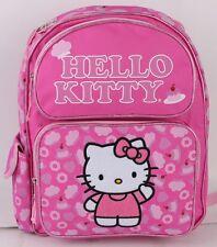 "New  Hello Kitty Pink Cake 14"" Full Size Girls' Backpack Kids School Book Bag"