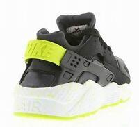 Nike Air Huarache Black/Wht/Volt Mens/Women/Boys Trainer UK-7 (318429-030)(PTI)