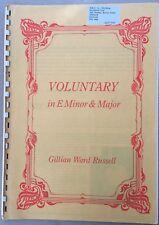 WILLIAM RUSSELL - Voluntary in E Minor & Major Vintage Organ Sheet Music