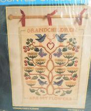 Sunset Grandchildren Are My Flowers Counted Cross Stitch Kit   #2988