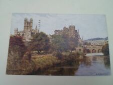 A R QUINTON Postcard 1436 BATH FROM THE AVON Franked+Stamped 1930  §A2909