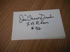 Dan Towler Rams #32 signed 3x5 Index Card