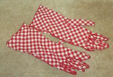 Super Cute Vintage Checked Gloves Cotton