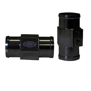 SAAS SWTA38B Water Temp Gauge Sender Radiator Hose Adaptor Black 38mm 1/8 NPT