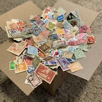 WW OFF PAPER STAMP BOX LOT 1'000's OF STAMPS, 75+ FOREIGN COUNTRIES (NO U.S.)