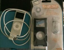 Apple iPod 4GB A1199 Silver with ToughSkin case bundle - Tested/Works