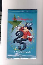 Walt Disney World 25th Anniversary Trading Cards Sealed Packs