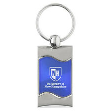 University of New Hampshire - Wave Key Tag - Blue