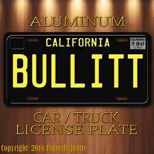 BULLITT Steve McQueen's 1968 Mustang JJZ 109  Prop Aluminum License Plate New