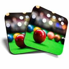 2 x Coasters - Pool Table Game Snooker Home Gift #16480