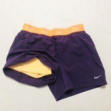 Nike Shorts 2 In 1 Dri-Fit Girls Size Large Purple Running Shorts With Liner