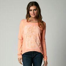 $36 Fox Racing Women's Reborn Long Sleeves Tee In Orange Size M
