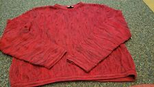 Coogi Mens Red Texturized Cosby Biggie smalls Hip Hop Sweater Size Xl SEE PICS