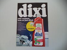 advertising Pubblicità 1972 DETERSIVO DIXI HENKEL
