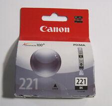 GENUINE Canon CLI-221BK Black Ink Cartridge (2946B001) CLI221BK CLI221 NEW SEAL!
