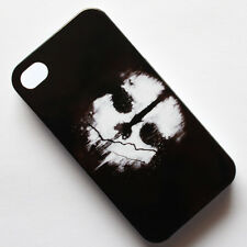 Black Call of Duty Cod Ghosts Pattern Hard Back Case Cover For Apple iPhone 4 4s
