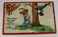 Vintage Leap-Year Series Postcard 1912 Rare Posted Greeting Antique Collectible