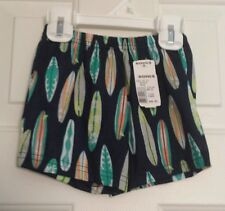 NWT~ CARTER'S~ SURFBOARDS~ BOYS SHORTS 100% POLYESTER SZ 12 M