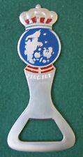 """Denmark Souvenir Bottle Opener Enamel Rustfrit Staal Stainless Steel 3.75"""" long"""