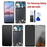 Pour Samsung Galaxy A30 SM-A305G/DS/GN/F TFT Écran LCD Display Touchscreen Frame